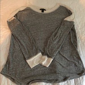 Comfy JCREW colorblock long-sleeve!